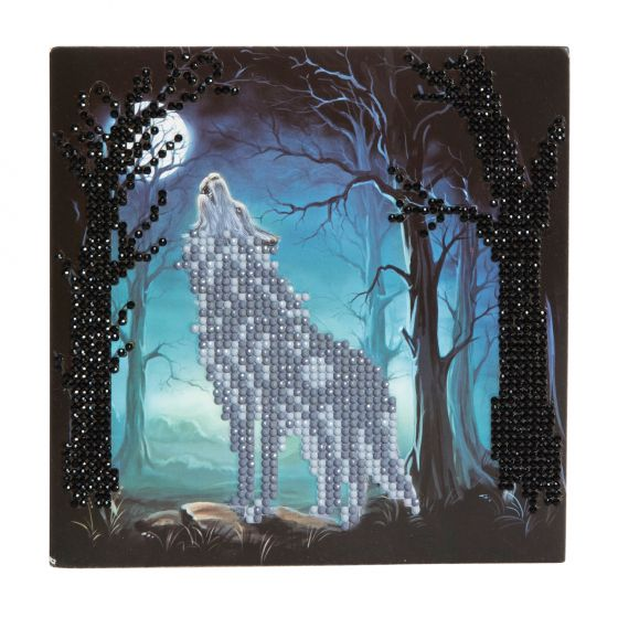 Crystal Card Kit - Howling Wolf