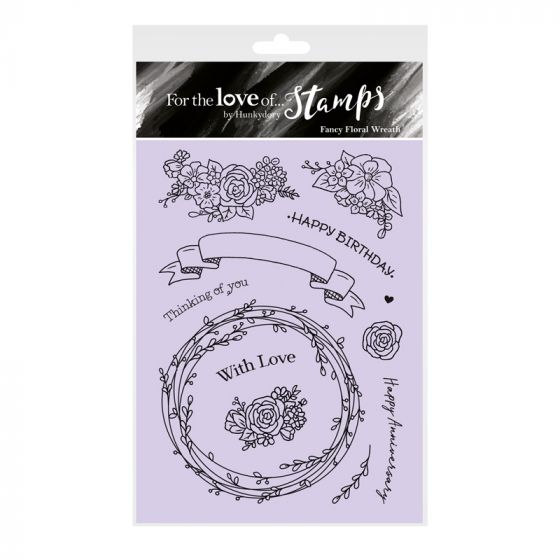 For the Love of Stamps - Fancy Floral Wreath