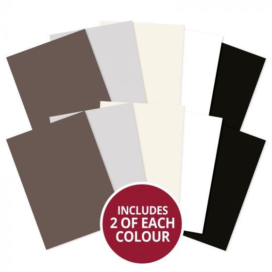 Adorable Scorable A4 Cardstock x 10 sheets - Monochromes