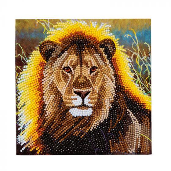 Crystal Card Kit - Resting Lion
