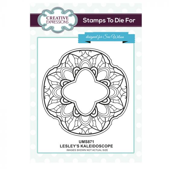 Stamps to Die For - Lesley's Kaleidoscope Pre Cut Stamp
