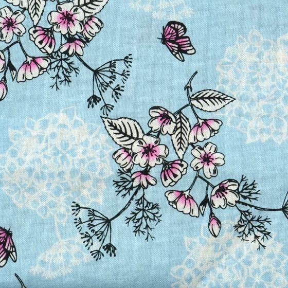 Sarah Payne Eastern Botanicals - Flower Outline Blue