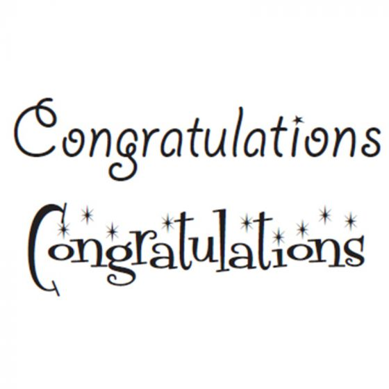 Just Words Stamps - Congratulations