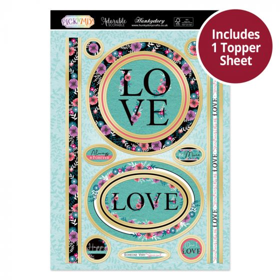 Pick 'N' Mix Topper Sheet - Lots of Love