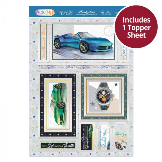 Pick 'N' Mix Topper Sheet - Need for Speed