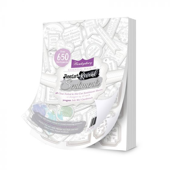 Resist & Reveal Clear Foiled Essential Book of Sentiments