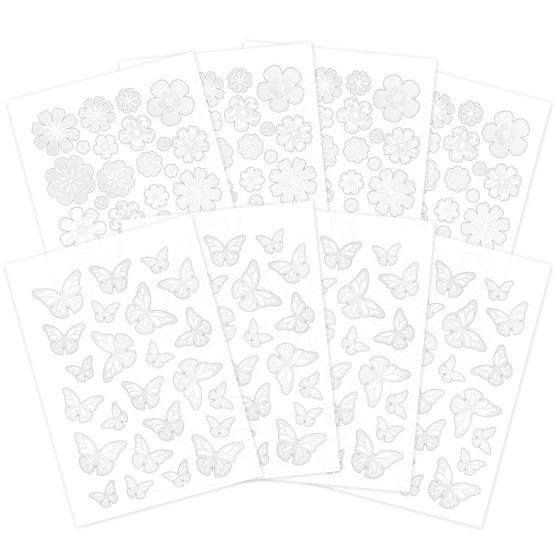 Resist & Reveal Clear Foiled & Die-cut Shapes