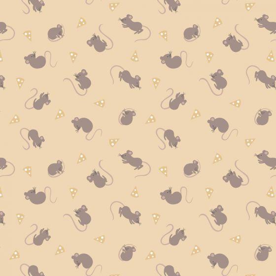 Lewis & Irene - Fat Quarter - Mice on hay