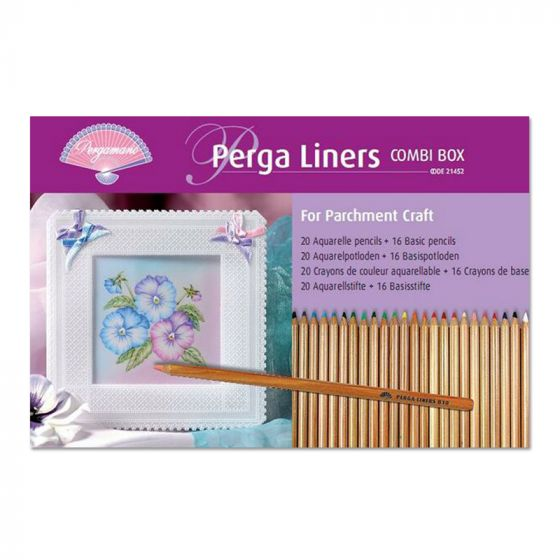 Perga Liners x 20 watercolour pencils