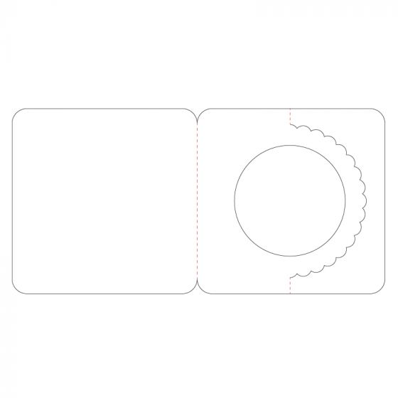 Fancy Shaped Card Blanks - Circle Pyramount
