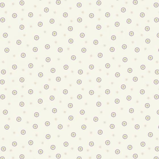 Lewis & Irene - Fat Quarter - Star Seed cream