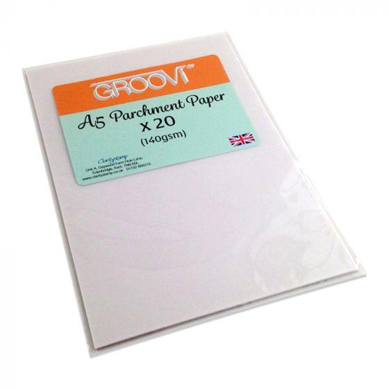Groovi Parchment Paper A5 x 20