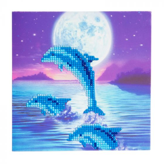 Crystal Card Kit - Moonlight Dolphins