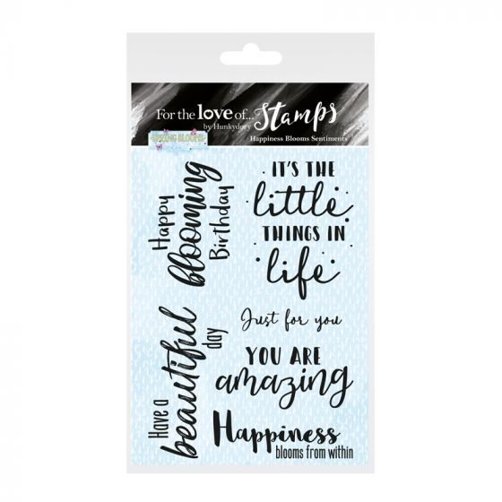 For the Love of Stamps - Happiness Blooms Sentiments