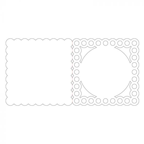 Ink Me! Luxury Shaped Cards - Beaded Frame