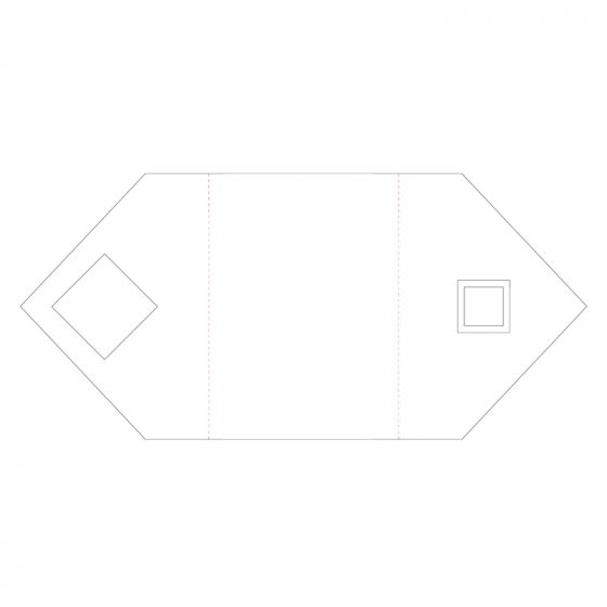 Ink Me! Luxury Shaped Cards - Geometric Squares Tri-panel