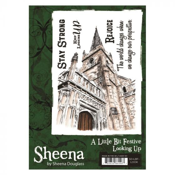 Sheena - A6 Xmas Stamp - Looking Up