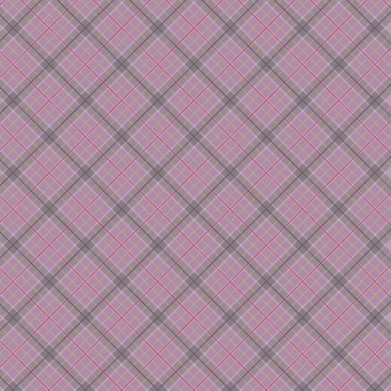 Lewis & Irene - Fat Quarter - Purple check with gold metallic