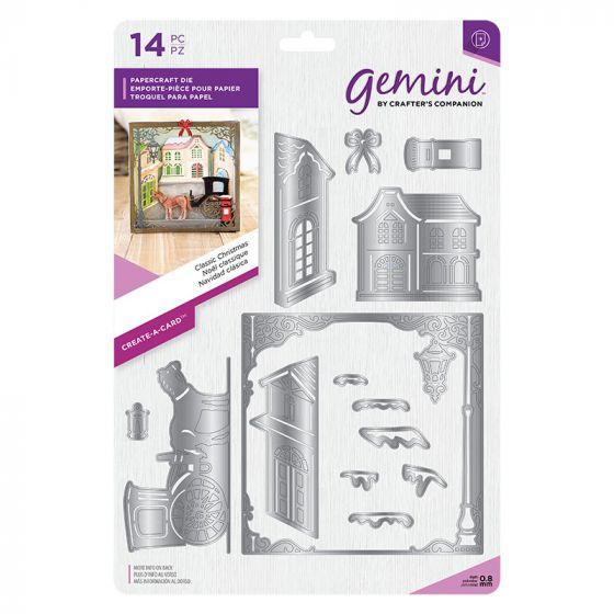 """Gemini Die - Create-a-Card - Classic Christmas x 14 dies (Larges die 5"""" x 5"""")"""