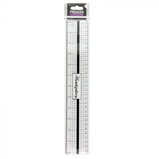 Premier Tools - Decimal Inch Ruler with Metal Edge