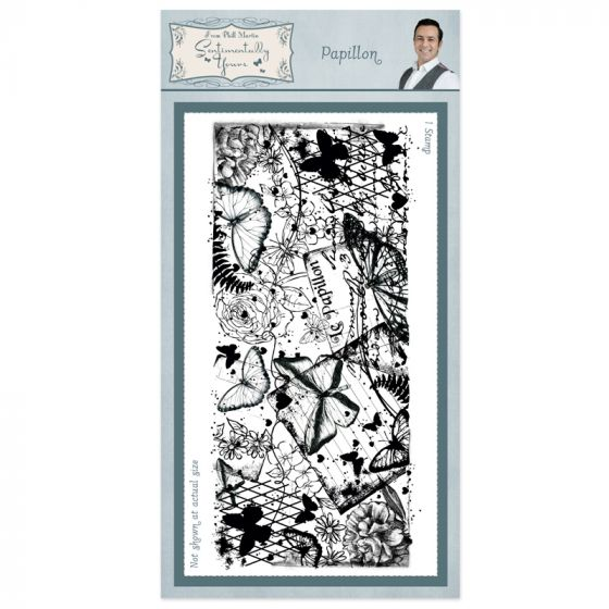 Papillon Rubber Stamp