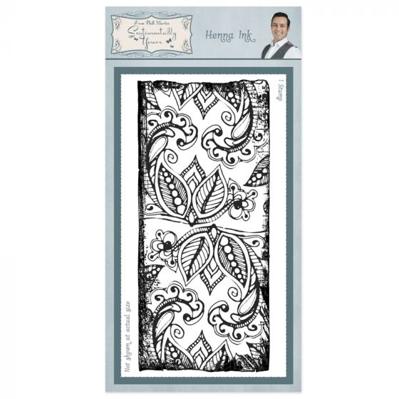 Henna Ink Rubber Stamp