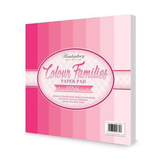Colour Families Paper Pad - Pink
