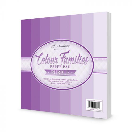 Colour Families Paper Pad - Purple