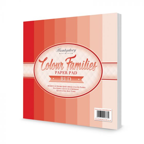 Colour Families Paper Pad - Red