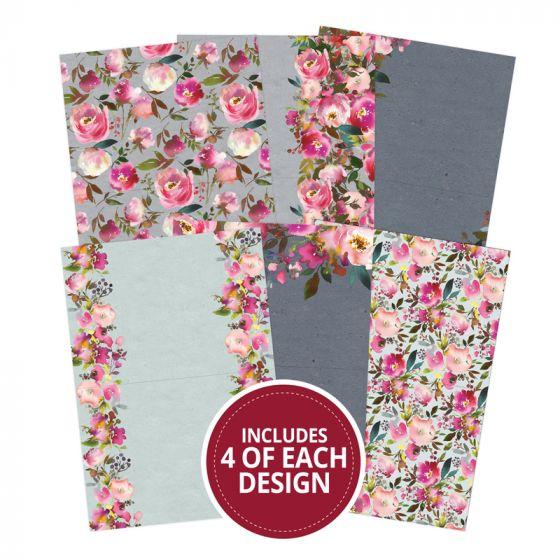 "Floral Watercolours 7""x5"" - Design Essentials Card Blanks & Envelope Pack"