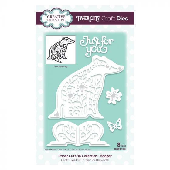 Paper Cuts 3D Collection Badger Craft Die