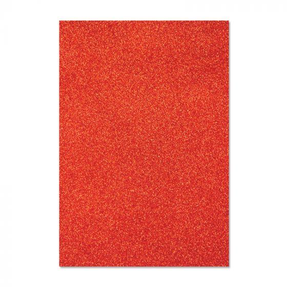 Glitter Card - Festive Red x 5 sheets