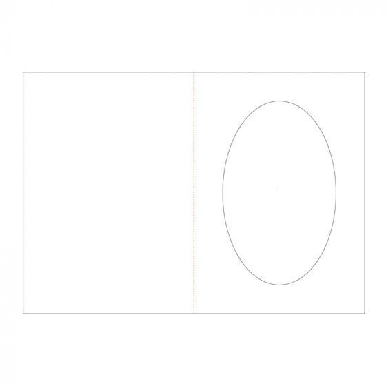 "7"" x 5"" Oval Aperture Card Blanks"