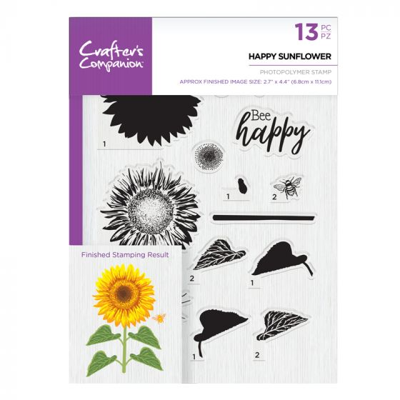 CC- A5 Photopolymer Stamp - Happy Sunflower