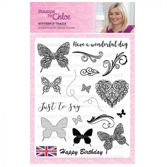 Stamps by Chloe - A5 Butterfly Trails Stamp Collection