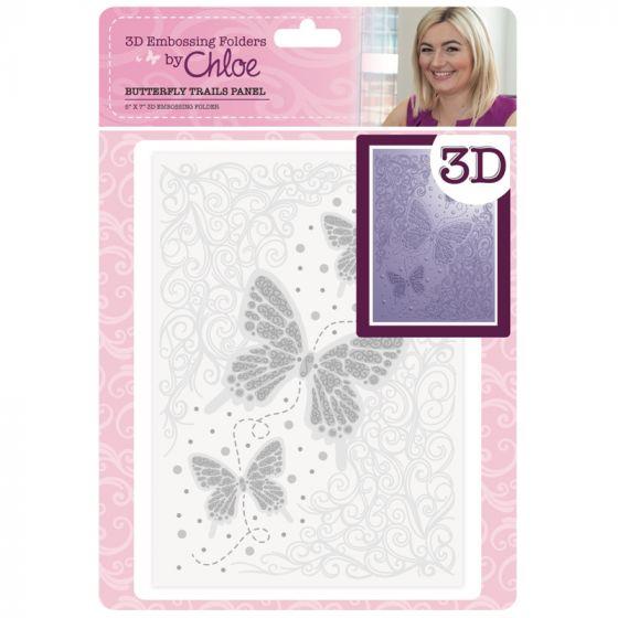 3D Embossing Folder by Chloe - Butterfly Trails Panel