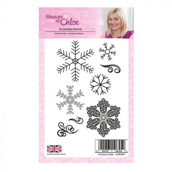 Stamps by Chloe - Snowflake Swirls