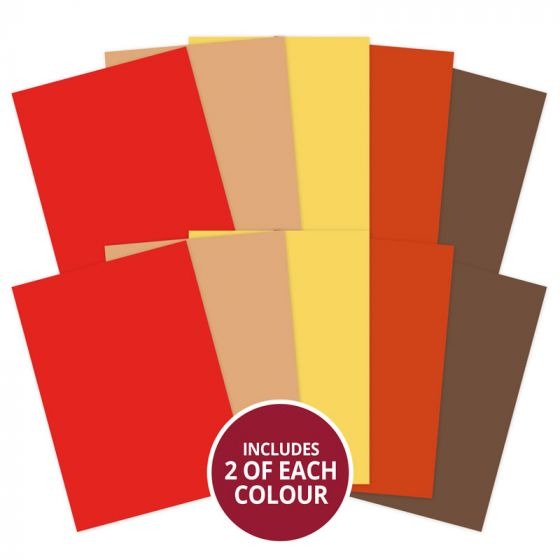 Adorable Scorable A4 Cardstock x 10 sheets - Earth Shades (2021-2022)
