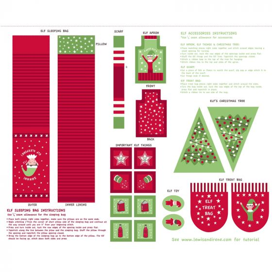 Christmas Glow - Elf Accessories red/green