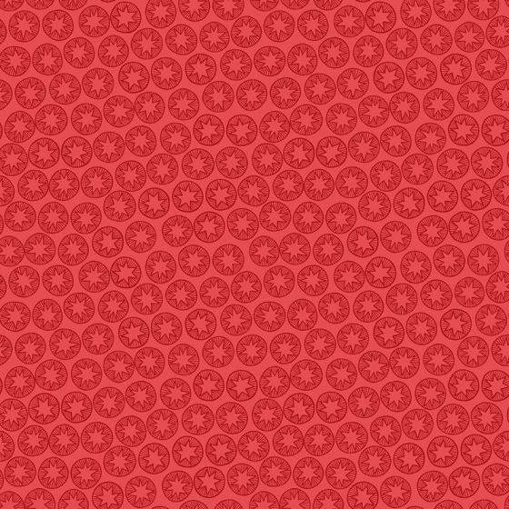 Lewis & Irene - New Forest Winter - Winter Star on Red - Fat Quarter