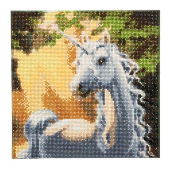 Framed Crystal Art Kit 30cm x 30cm - Sunshine Unicorn