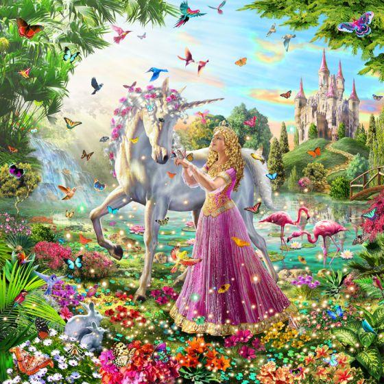 Framed Crystal Art Kit 30cm x 30cm - The Princess & the Unicorn