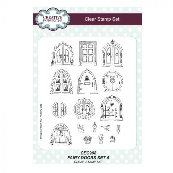 Fairy Doors set A - A5 Clear Stamp Set