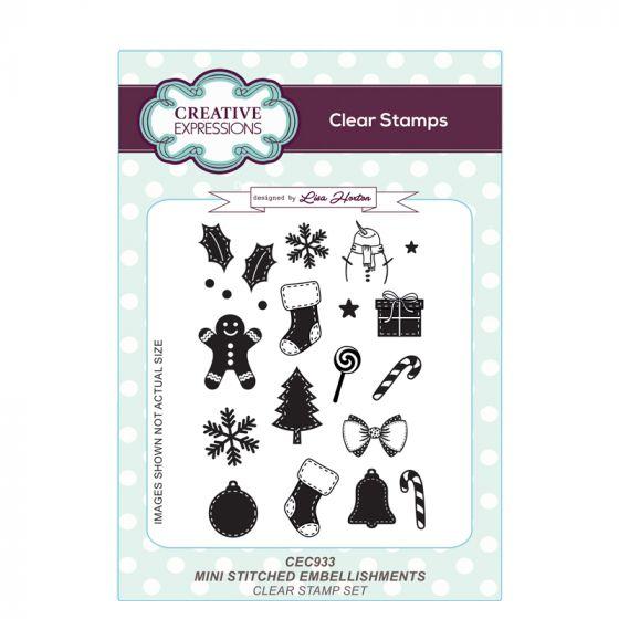 Mini Stitched Embellishments A6 Clear Stamp Set