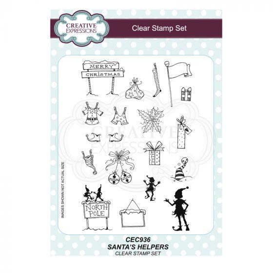 Santa's Helpers A5 Clear Stamp Set