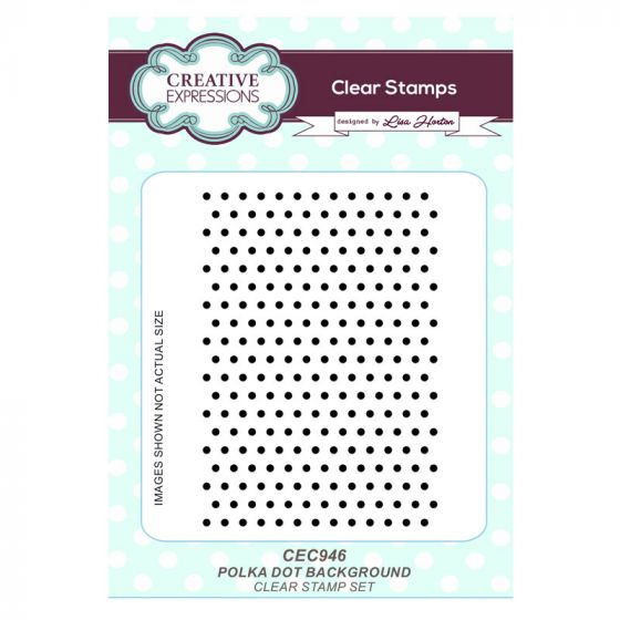 Polka Dots Background A6 Clear Stamp Set