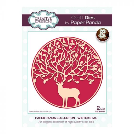 Creative Expressions Paper Panda - Winter Stag