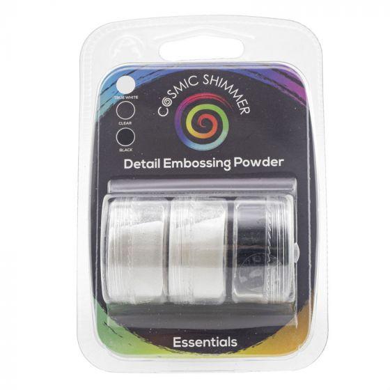 Cosmic Shimmer Detail Embossing Powder Trio - Essentials