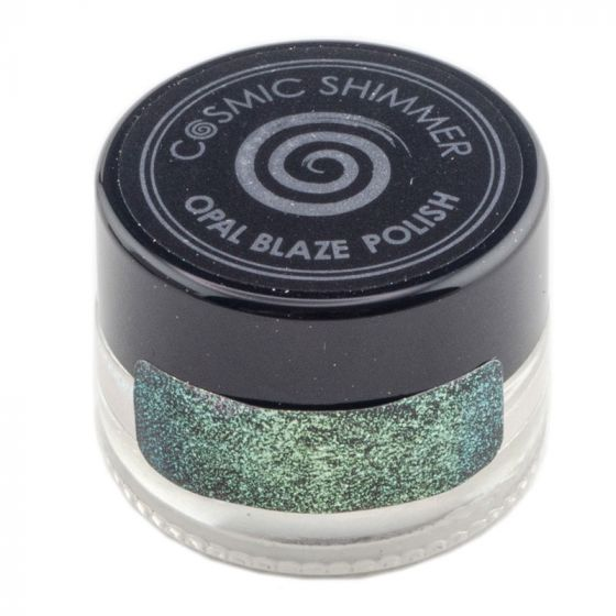 Cosmic Shimmer Opal Blaze Polish Gilded Avocado