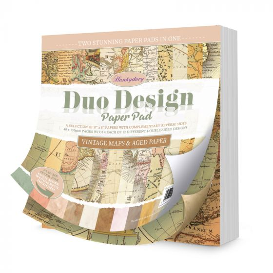Duo Design Paper Pad - Vintage Maps & Aged Paper